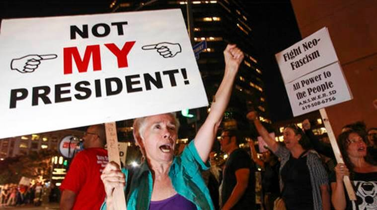 Image result for image of anti-trump protests