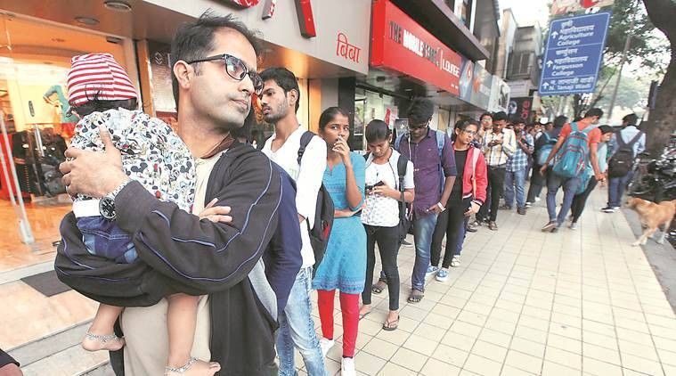 Queues get longer, patience runs out- Copyright Indian Express Group.