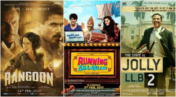 bollywood films february 2017, films releasing in feb 2017, films releasing february 2017, feb 2017 bollywood, february 2017 bollywood, bollywood 2017, bollywood films release, films releasing feb, feb films, feb 2017 films, rangoon jolly llb 2, feb films rangoon jolly llb 2, bollywood calendar 2017, bollywood calendar, bollywood news, bollywood films 2017, bollywood films list, bollywood updates, indian express, indian express news