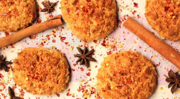 Make your cookie time healthy with these Chinese Five Spice Rajgira Coconut Cookies.