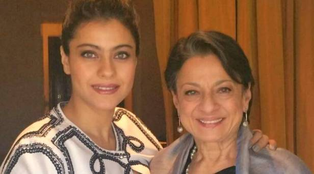 Image result for Kajol with mother Tanuja