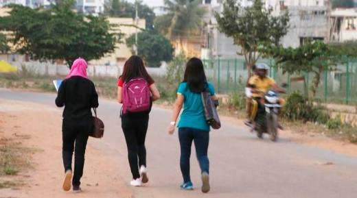 Girls in Bangalore, where an incident of mass molestation happened on December 31. (Source: AP)