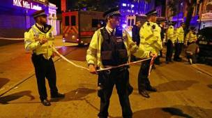Image result for Van rams worshippers leaving London mosque, injuring 10