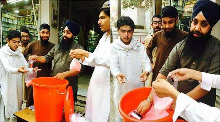Image result for When Sikh men served rooh afza milk to fasting Muslims in Peshawar