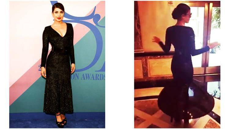 priyanka chopra, priyanka chopra fashion, priyanka chopra micheal kors, priyanka chopra CDFA awards, the council of fashion designers of america awards 2017, CDFA awards 2017, fashion news, fashion indian express, indian express, indian express news