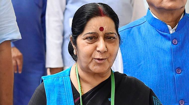 Sushma Swaraj gets request to 'rescue' man from Shah Rukh Khan's Jab Harry Met Sejal