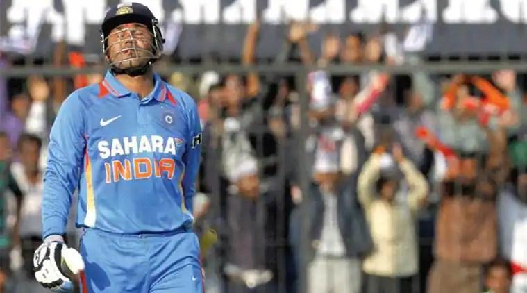 Virender Sehwag, Virender Sehwag double hundred, BCCI twitter, Australia tour of India