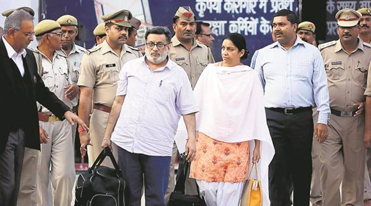 Freed after 4 years, Talwars return to Noida complex where Aarushi was killed