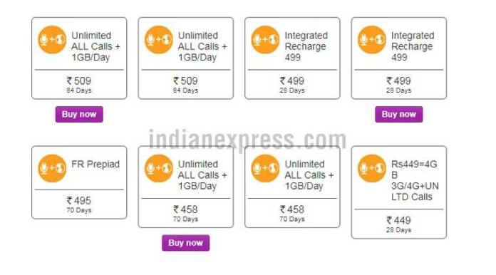Vodafone recharge plans for Rs 509 and Rs 458