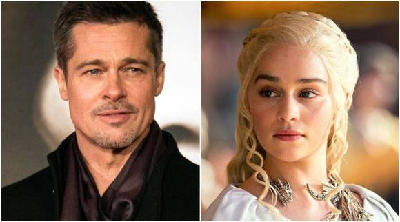 Brad Pitt bid 1,20,000 dollars to watch Game of Thrones with Emilia Clarke