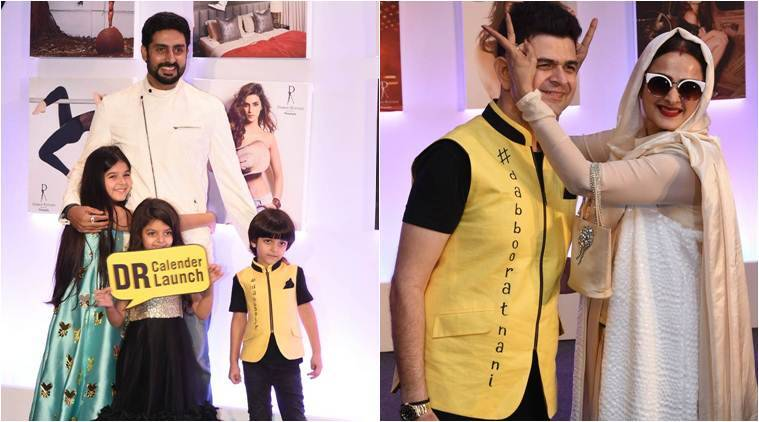Dabboo Ratnani Calendar 2018 launch: Abhishek Bachchan, Rekha, Manushi Chhillar and others in attendance