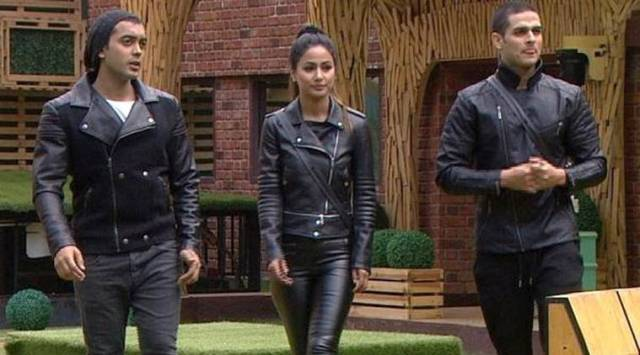 Luv Tyagi, Hina Khan and Priyank Sharma in Bigg Boss 11