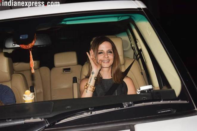 photos of sussane khan at hrithik birthday party