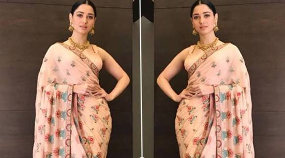 Tamannaah Bhatia shows us how to add bling to simple pastel-hued outfits