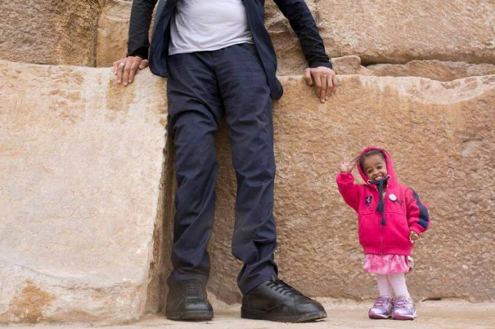 Image result for world's tallest and shortest woman in egypt