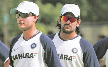 Image result for ganguly and dhoni