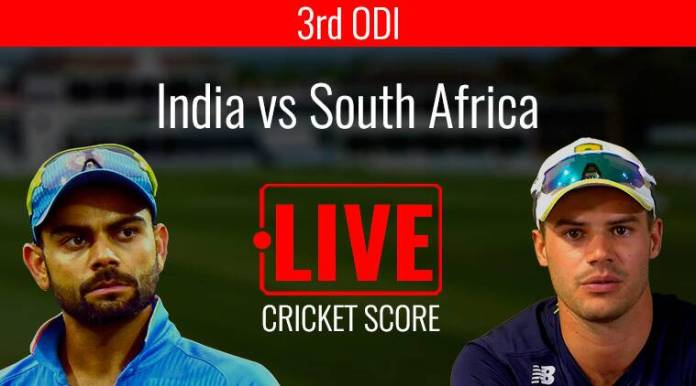India vs South Africa 3rd ODI Live