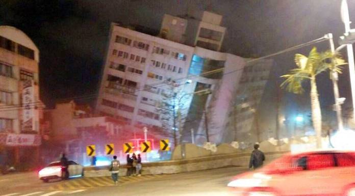At least two killed, buildings collapse in magnitude 6.4 Taiwan quake