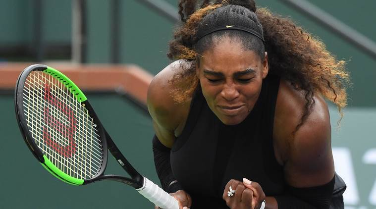 Serena Williams sets up encounter with sister Venus after beating Kiki Bertens in Indian Wells
