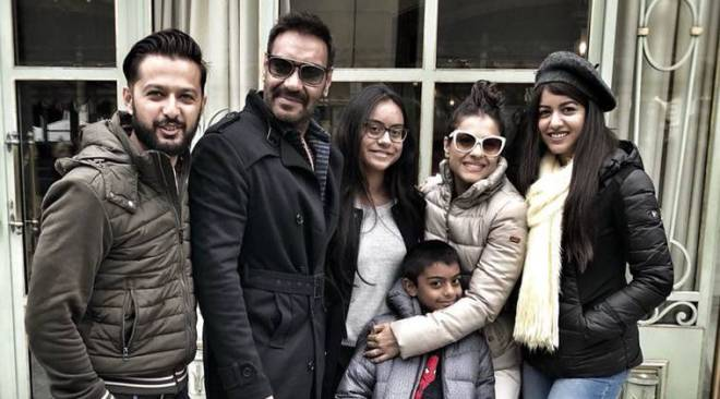 Ajay Devgn rings in 49th birthday with Kajol and kids inParis