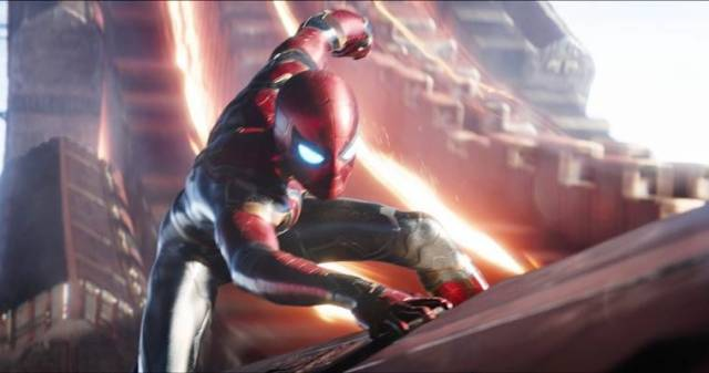 spider-man in avengers infinity war played by tom holland