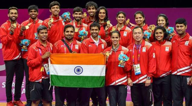 Image result for indian badminton team gold