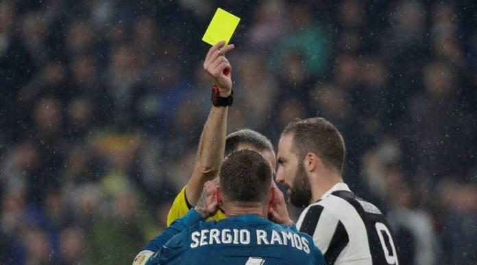 Sergio Ramos was booked in the first leg to be suspended against Juventus