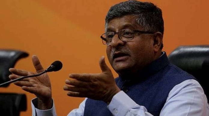 "Union Law Minister Ravi Shankar Prasad said, ""The stand of the Congress on the Rafale deal is clearly not in the interest of the country."" (Express file photo)"