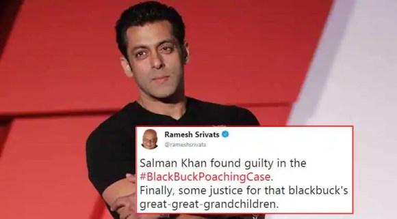 Salman Khan verdict: Actor gets 5-year jail term in blackbuck poaching case; Twitterati react with jokes