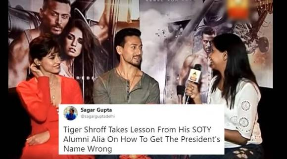 Tiger Shroff trolled for getting President's name wrong, but he's not the only one