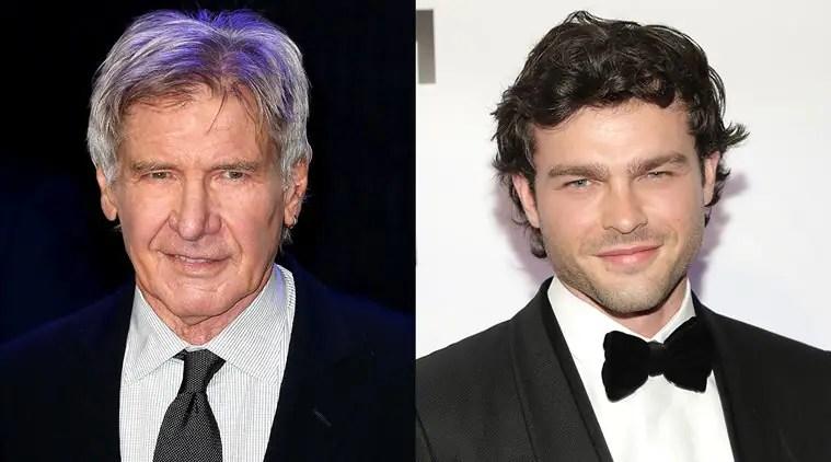 Alden Ehrenreichs Solo A Star Wars Story interview gets interrupted by HarrisonFord