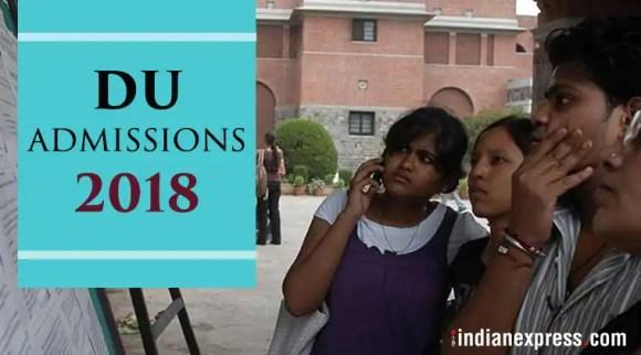 DU admissions 2018 LIVE Updates: Online admission process begins at du.ac.in