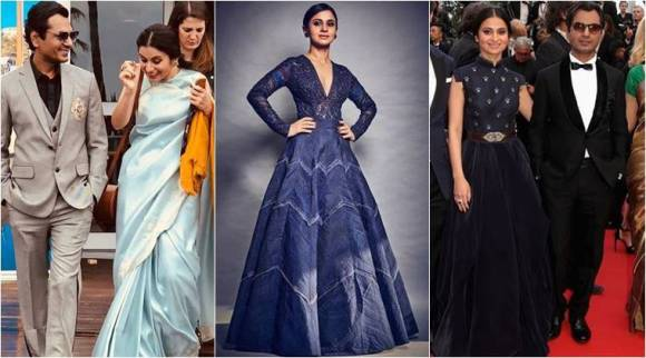 Cannes 2018: Manto actor Nawazuddin Siddiqui looks smart in Manish Malhotra outfits; Rasika keeps it elegant in sari and voluminous gowns