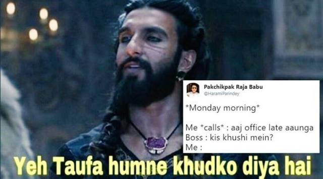 This scene from Padmaavat starring Ranveer Singhs Allaudin Khilji has become a HILARIOUS meme on Twitter