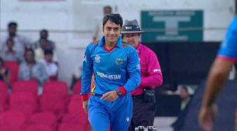 Image result for rashid khan bowling