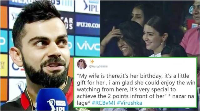 IPL 2018: As RCB wins the match against MI, Twitterati drool over Virats birthday gift for Anushka