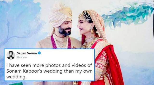 Sonam Kapoor-Anand Ahujas wedding: A funny take on Twitter to leave you in splits