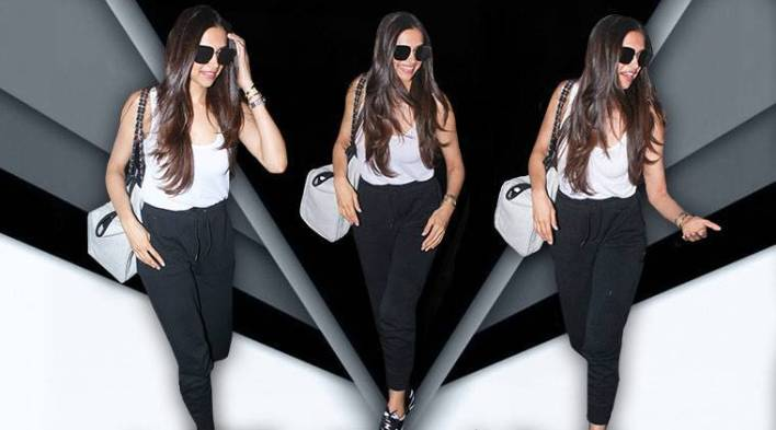 Deepika Padukone wins with chic formula to style her cool and casual airportlook