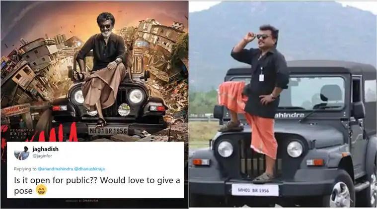 'Kaala' fever: Want to pose like Rajinikanth? Anand Mahindra opens the 'CAR THRONE' for Thalaivar fans inChennai