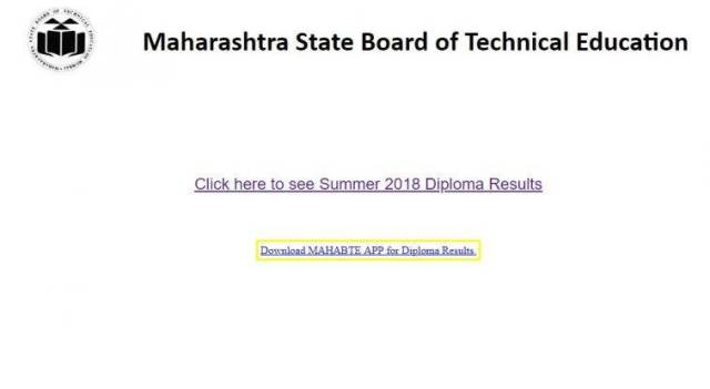 MSBTE Summer 2018 Diploma Result declared at msbte.org.in