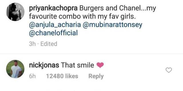 Nick Jonas Priyanka Chopra insta post