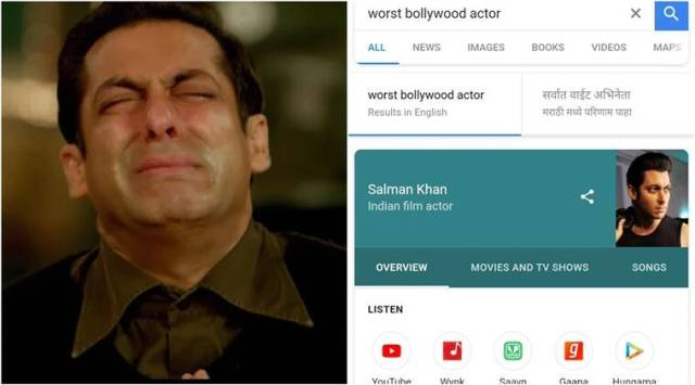 Google shows Salman Khan as worst Bollywood actor; but here is why theres still hope for bhais fans