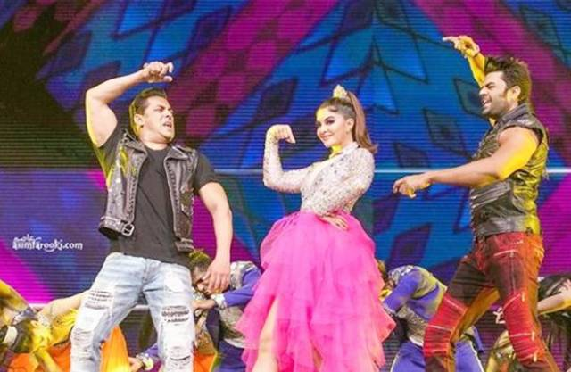 salman and jacqueline Dabangg Tour Reloaded