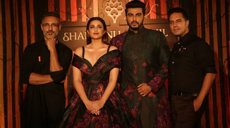 Namaste England co-stars Parineeti Chopra, Arjun Kapoor come together to walk for designers Shantanu and Nikhil