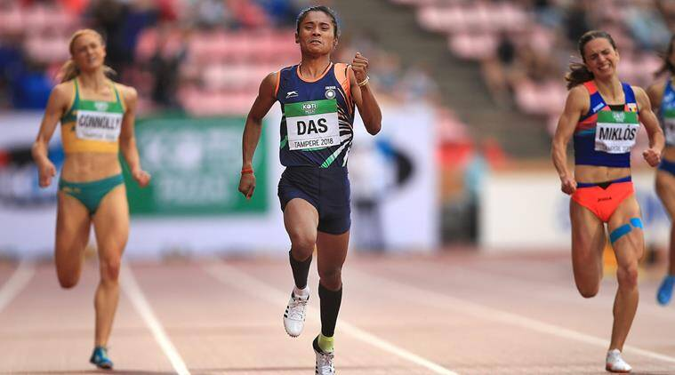 Hima Das, Hima Das India, India Hima Das, Hima Das gold, Hima Das India, sports news, Indian Express