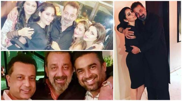 Sanjay Dutts birthday bash: Actor celebrates the special day with R Madhavan, Maanayata and Trishala