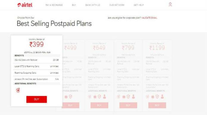 Airtel, Airtel Rs 399 Postpaid plan, Infinity postpaid plan, Airtel Postpaid, Airtel Postpaid Offer, Airtel postpaid plan revised, airtel Rs 399 Postpaid 20GB data, Airtel Postpaid Plans, Vodafone Rs 399 postpaid plan, Reliance Jio Rs 399 postpaid plan, Vodafone, Reliance Jio  Airtel revamps Rs 399 postpaid plan; now offers 40GB monthly data benefit airtel rs 399 759