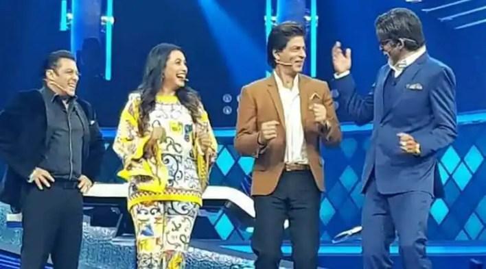 Shah Rukh Khan and Salman Khan celebrate Sunil Grovers birthday on Dus Ka Dum sets