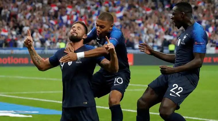 Kylian Mbappe, Olivier Giroud score as France make successful returnhome