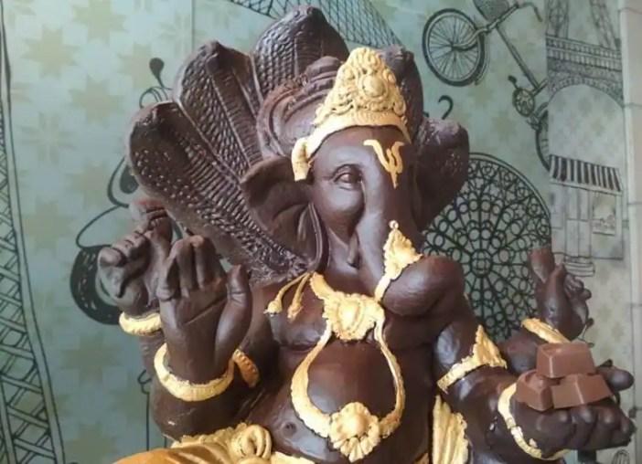 Image result for chocolate ganesh visarjan